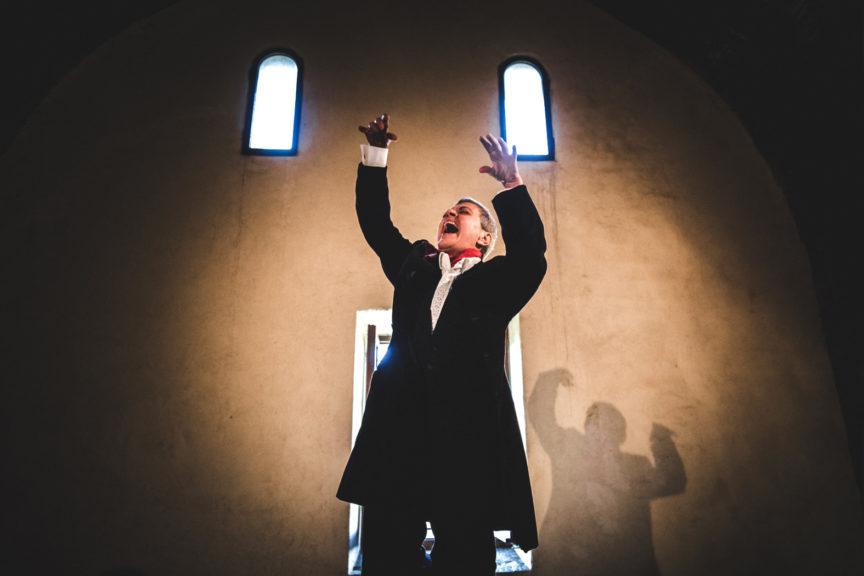 Dimmi Tiresia. Teatri di Pietra , debutto a Malborghetto,, foto Edoardo Boccali,con Luisa Stagni, Massimo Carrano, Lucresia SErafini e Luca Piomponi. Mda Produzioni Danza direzione Aurelio Gatti