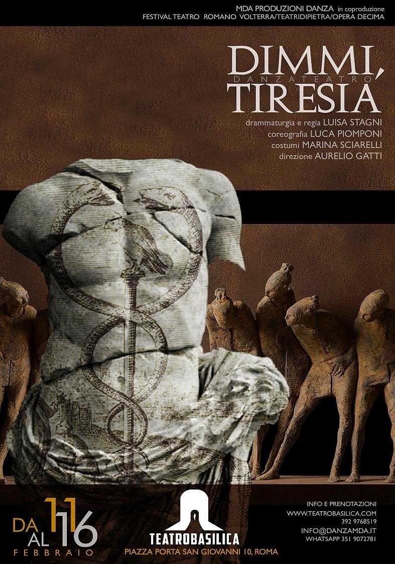 DIMMI, TIRESIA a Roma Teatro Basilica